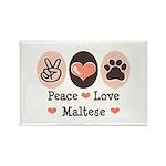 Peace Love Maltese Rectangle Magnet (10 pack)