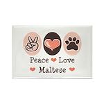 Peace Love Maltese Rectangle Magnet (100 pack)