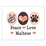 Peace Love Maltese Small Poster