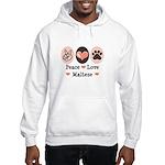 Peace Love Maltese Hooded Sweatshirt