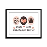 Peace Love Manchester Terrier Framed Panel Print