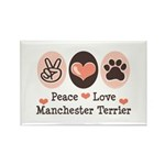 Peace Love Manchester Terrier Rectangle Magnet (10