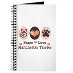 Peace Love Manchester Terrier Journal