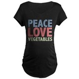Peace Love Vegetables Vegetarian T-Shirt