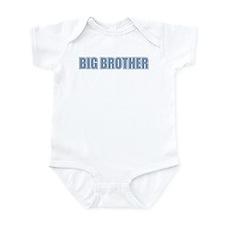 Big Brother Blue Varsity Letters Onesie