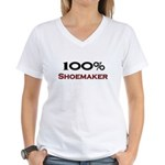 100 Percent Shoemaker Women's V-Neck T-Shirt