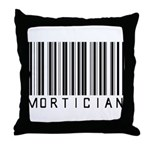 Mortician Barcode Throw Pillow