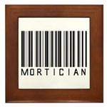 Mortician Barcode Framed Tile