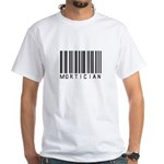 Mortician Barcode White T-Shirt