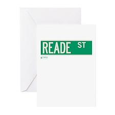 Reade Street in NY Greeting Cards (Pk of 10)