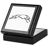 Greyhound Keepsake Box/S&G/Black