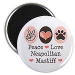 Peace Love Neapolitan Mastiff Magnet