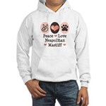 Peace Love Neapolitan Mastiff Hooded Sweatshirt