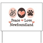 Peace Love Newfoundland Yard Sign