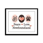 Peace Love Newfoundland Framed Panel Print
