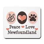 Peace Love Newfoundland Mousepad
