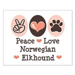 Peace Love Norwegian Elkhound Small Poster