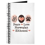 Peace Love Norwegian Elkhound Journal