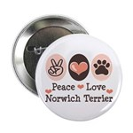 Peace Love Norwich Terrier 2.25