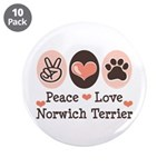 Peace Love Norwich Terrier 3.5