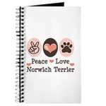 Peace Love Norwich Terrier Journal
