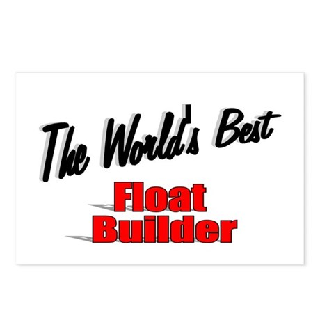 """The World's Best Float Builder"" Postcards (Packag"
