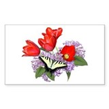 Yellow Swallowtail Butterfly Rectangle Decal