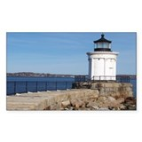 Scenic Bug Lighthouse on Main Sticker (Rectangular