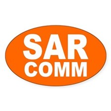 SAR COMM Oval Decal