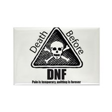 Death Before DNF Rectangle Magnet