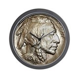 Classic Indian head Nickel Wall Clock