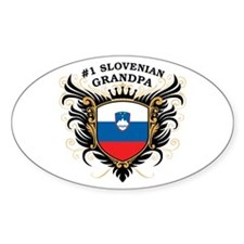 Number One Slovenian Grandpa Oval Decal
