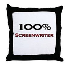 100 Percent Screenwriter Throw Pillow