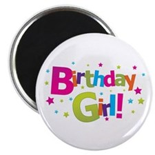 birthday girl coloful Magnet