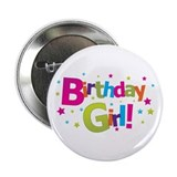 birthday girl coloful 2.25&quot; Button