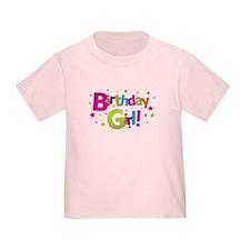 birthday girl coloful T
