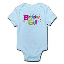 birthday girl coloful Infant Bodysuit
