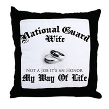 USNG Wife: It's an Honor Throw Pillow