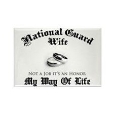 USNG Wife: It's an Honor Rectangle Magnet