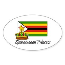 Zimbabwean Princess Oval Decal