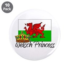 "Welsch Princess 3.5"" Button (10 pack)"