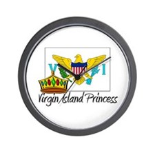 Virgin Island Princess Wall Clock