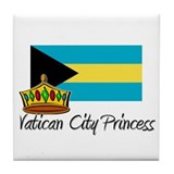 Vatican City Princess Tile Coaster