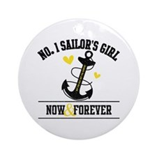 No. 1 Sailor's Girl Ornament (Round)