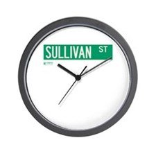 Sullivan Street in NY Wall Clock