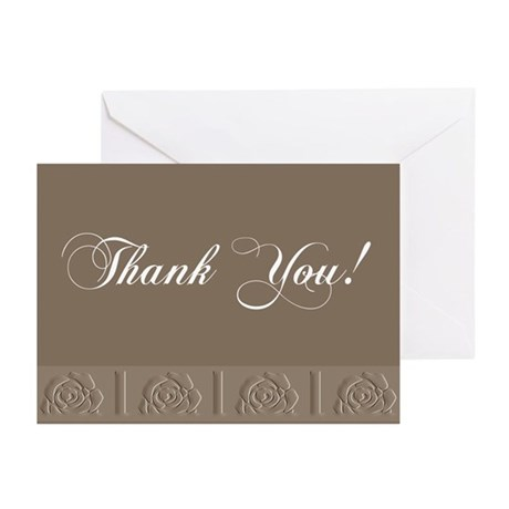 Thank You Roses Greeting Cards (Pk of 10)
