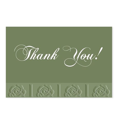Thank You Roses Postcards (Package of 8)
