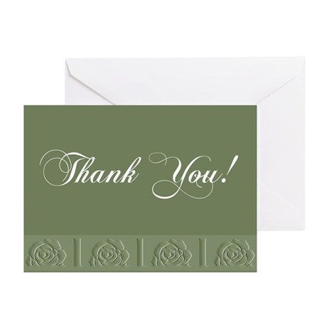 Thank You Roses Greeting Cards (Pk of 20)