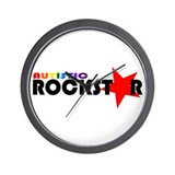 Autistic Rockstar Wall Clock