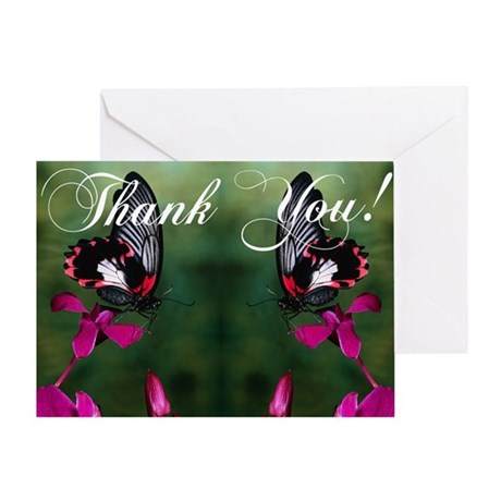 Thank You Butterflies Greeting Card